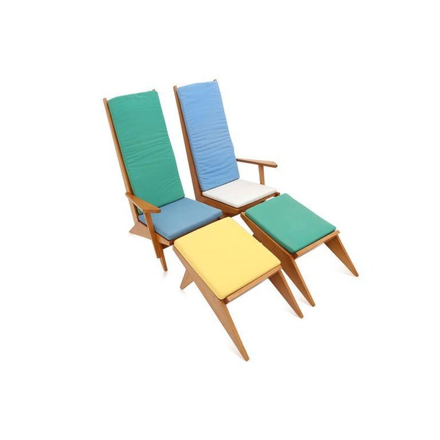 Wood 1970s Swimming Pool Lounge Chairs - a Pair For Sale - Image 7 of 11
