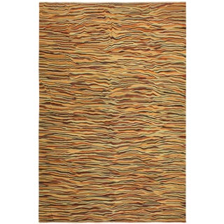 Sigrid Orange/Gray Hand-Woven Kilim Wool Rug -9'11 X 13'10 For Sale
