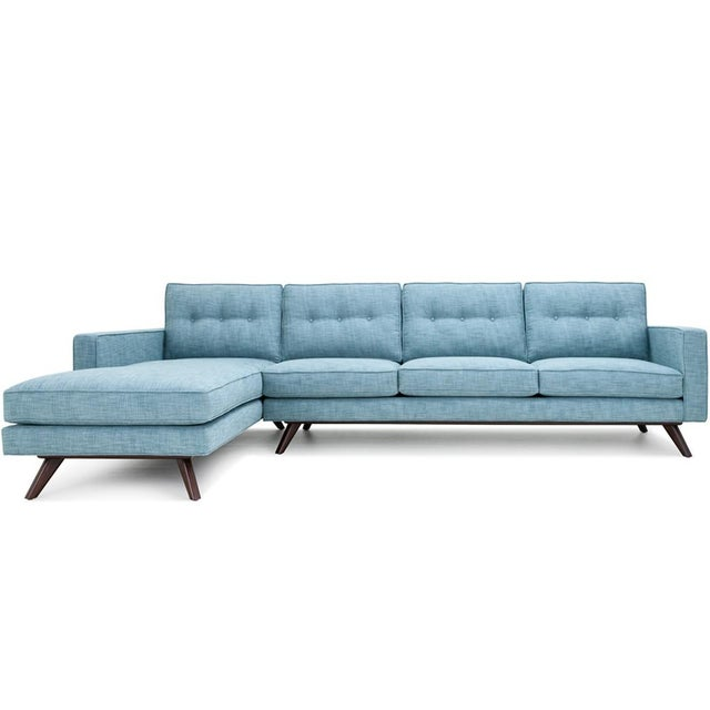 Clad Home Mid-Century Style Tufted Sectional For Sale