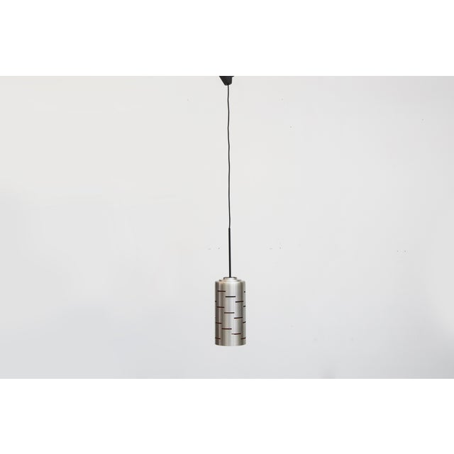 Mod Cylinder Pendant Light With Linear Cut - Image 8 of 8