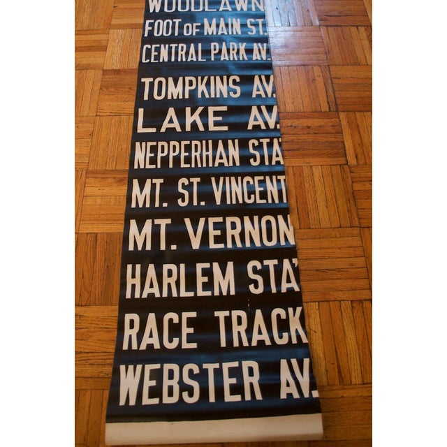 Early 20th Century Pre-War New York Trolley Scroll For Sale - Image 5 of 7