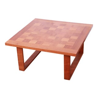 Poul Cadovius for France & Sons Danish Modern Teak Checkerboard Coffee Table For Sale