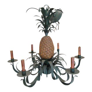 Currey & Co. Palm Beach Vintage Pineapple Chandelier