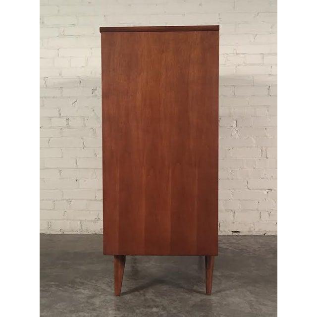 Walnut Mid-Century Four-Drawer Dresser - Image 5 of 9