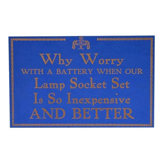 Lamp Socket Set Store Sign