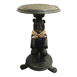 20th Century Black Forest Style Wooden Side Table For Sale