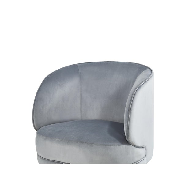 2010s Carrie Armchair in Gray For Sale - Image 5 of 7