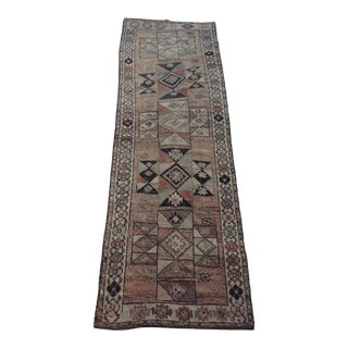 1950s Vintage Persian Qashqai Runner Rug - 3′11″ × 11′8″ For Sale