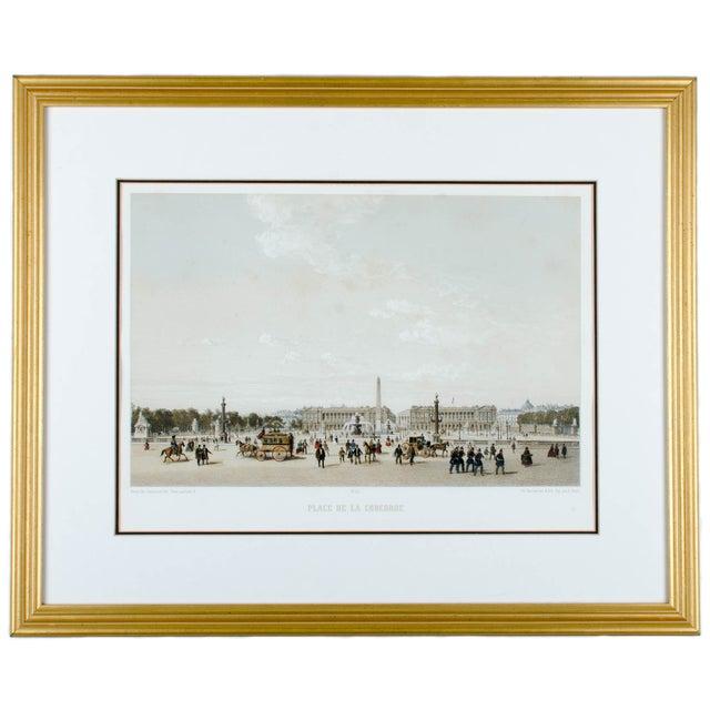 Place de la Concorde from Paris Dans Sa Splendeur by Henri Charpentier. Art by Philippe Benoist. Lithographed by E....