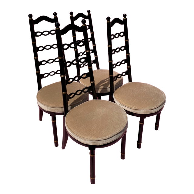Hollywood Regency Dining Chairs - Set of 4 For Sale
