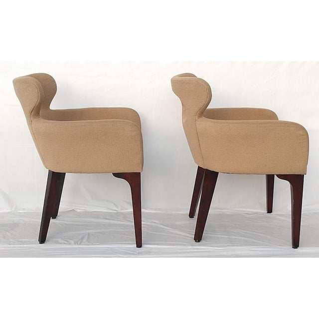 Mid Century Mark David Design Masters Collection Pq1072 Accent Chairs- a Pair For Sale - Image 4 of 9
