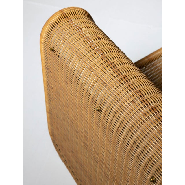 Brass Large Wicker Set by Tito Agnoli for Bonacina For Sale - Image 7 of 10
