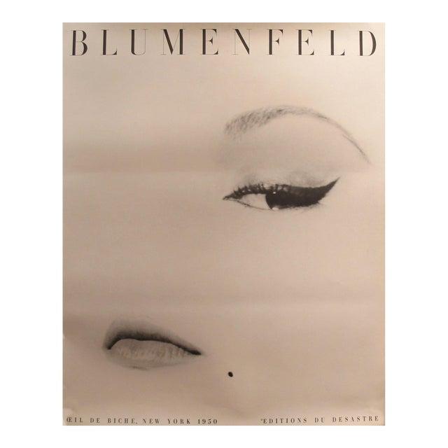 1980s Erwin Blumenfeld Exhibition Poster, Doe Eye (Oeil De Biche) For Sale