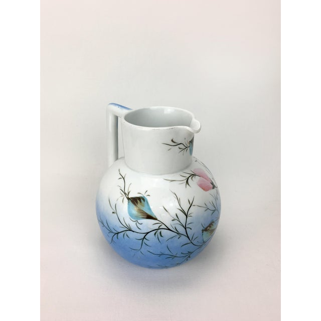 20th Century Traditional Blue & White Floral Pitcher For Sale - Image 4 of 6