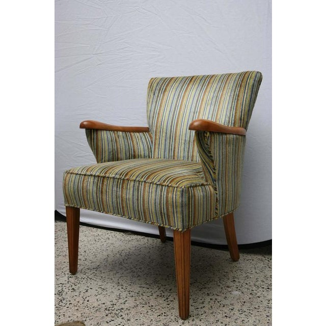 Heywood Wakefield Upholstered Chair, 1960s, USA For Sale - Image 5 of 8