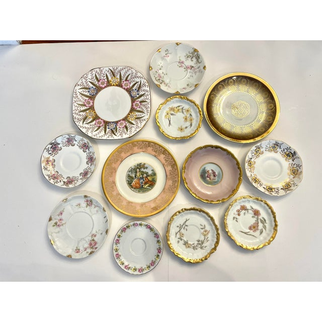 Vintage Pink and Gold Mixed Decorative Plates- a Set 12 For Sale - Image 13 of 13