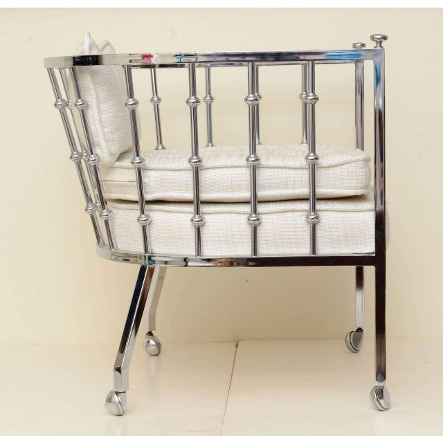 "Metal Wonderful ""Abacus"" Sculptural Milo Baughman Attribute Side Chair For Sale - Image 7 of 11"