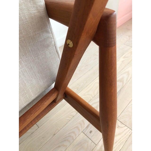 White 1955 Mid-Century Modern Kai Kristiansen Teak Paper Knife Easy Chair For Sale - Image 8 of 13