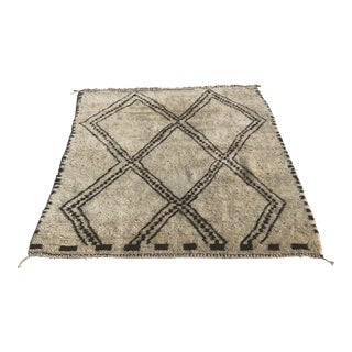 Hand Woven Moroccan Beni - 6′10″ × 8′6″ For Sale