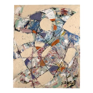 """Original Contemporary Stephen Heigh Abstract Painting """"Keep on Dancing """" For Sale"""