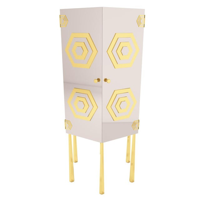 Art Deco Hex Cabinet by Artist Troy Smith - Contemporary Modern Design - Handmade Furniture - Very Limited Edition For Sale - Image 3 of 11