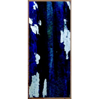Blue Ikat 4 Art Print - Framed For Sale