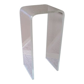 Lucite Waterfall Pedestal Table For Sale