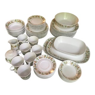 Vintage Noritake Progression Homecoming 9002 Set for 8 Dinnerware - 66 Piece Set/Reduced Final For Sale