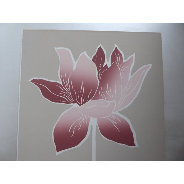 1983 Large Graphic Floral Serigraph I - Image 3 of 7