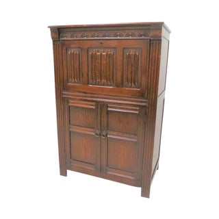 Antique English Wood Cocktail Cabinet For Sale