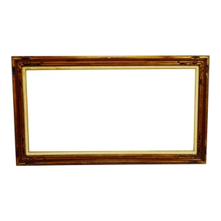 Vintage Large Wood Picture Frame - 56 X 32 For Sale
