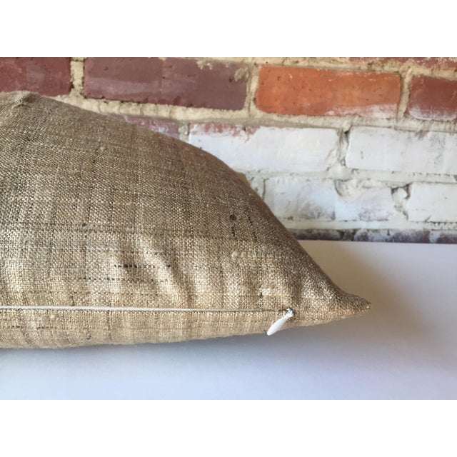 Handwoven Raw Silk Pillow Cover - Image 5 of 5