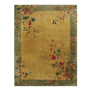 """Antique Chinese - Art Deco Rug 8'10""""x11'3"""" For Sale"""