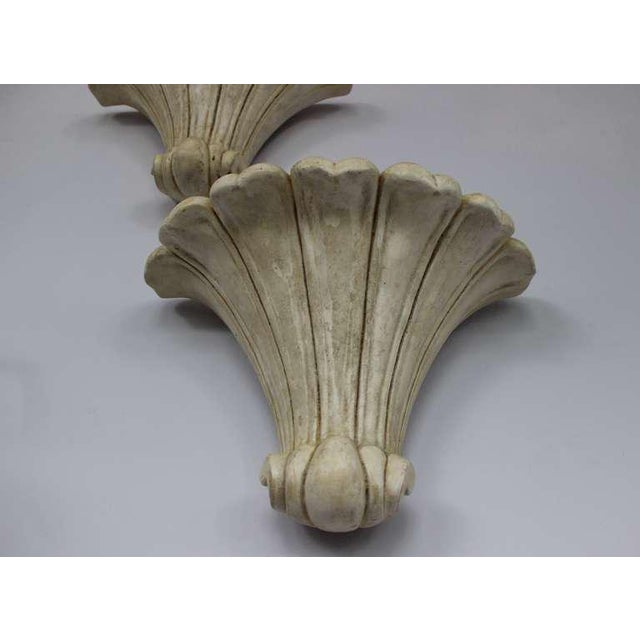 Pair of Deco Style Plaster Scones For Sale - Image 4 of 11