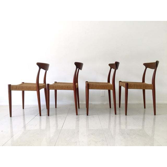 Arne Hovmand Olsen Teak Dining Chairs -Set of 4 For Sale In Milwaukee - Image 6 of 10