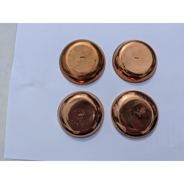 Mid-Century Modern Enamel on Copper Small Bowls - Set of 4 - Image 6 of 7