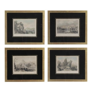 "Mid 19th Century Prints ""China in a Series of Views"" by Thomas Allom -Set of 4"