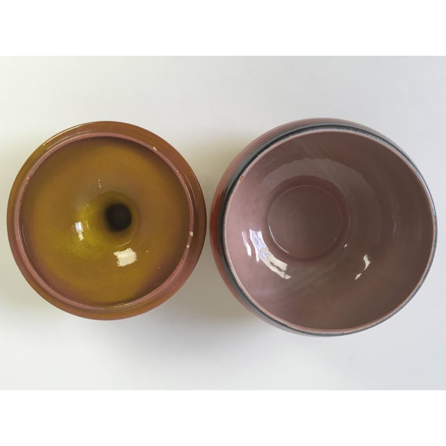 Mid 20th Century Mid-Century Modern Haeger Covered Pottery Dish For Sale - Image 5 of 8