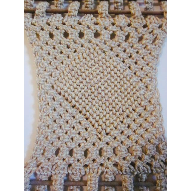 Vintage Jute Rope Macrame Boho Wall Hanging - Image 5 of 10