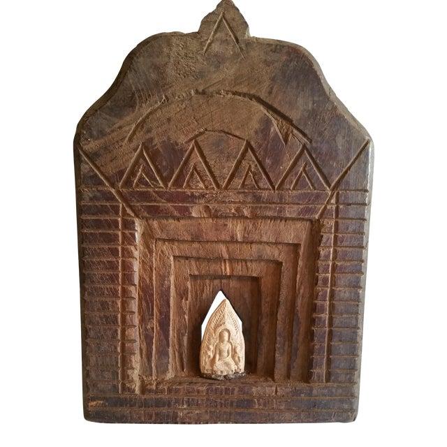 Antique 19th Cent Teak Deity Shrine For Sale