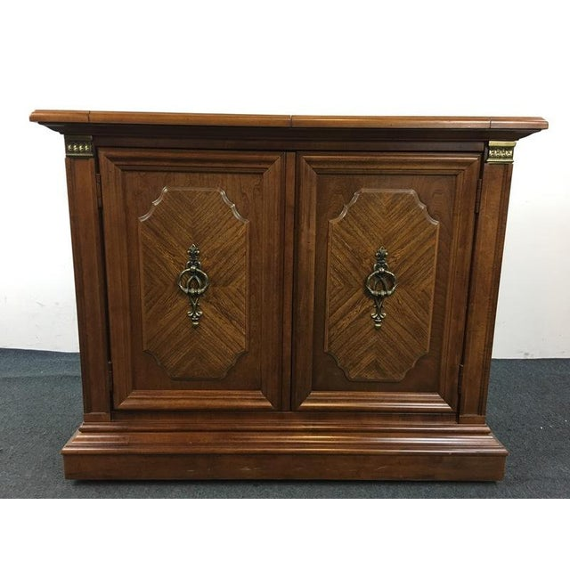 Serve your guests in style on a beautiful, Vintage Sideboard from Stanley  Furniture. Made - Vintage Stanley Furniture 2-Door Sideboard Chairish