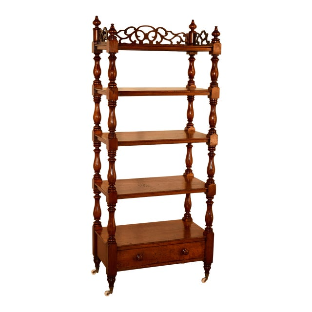 19th C English Mahogany Etagere For Sale