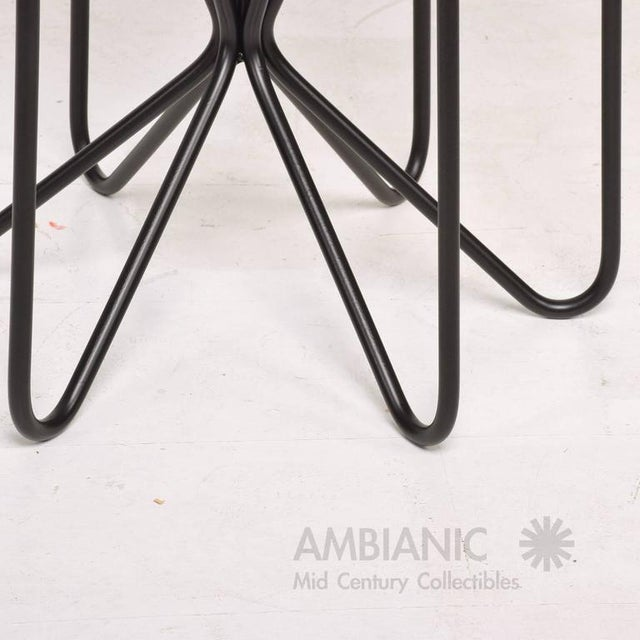 White Pair of Mid-Century Modern Side Tables For Sale - Image 8 of 8