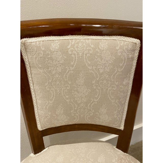 Italian Walnut Tea Table and Chairs - 3 Pieces For Sale In Dallas - Image 6 of 10