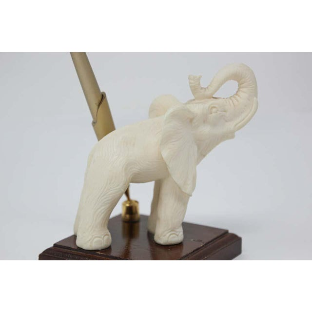 Vintage White Elephant Sculpture Pen Holder For Sale In Los Angeles - Image 6 of 13