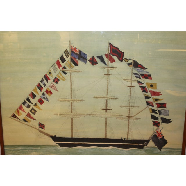 Dress Ship Watercolor by Mary Maguire - Image 2 of 6