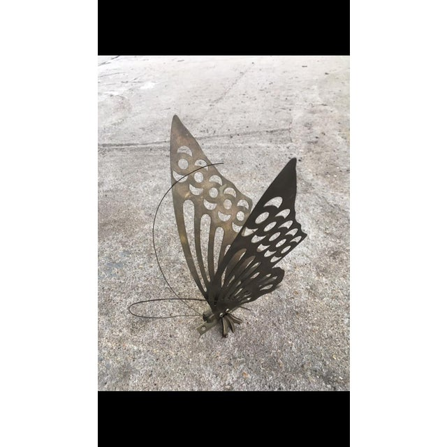 Vintage Brass Butterfly Wall Decor - Image 6 of 6
