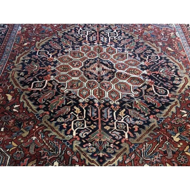 Antique Persian Heriz Rug - 8′10″ × 11′7″ For Sale In San Francisco - Image 6 of 7