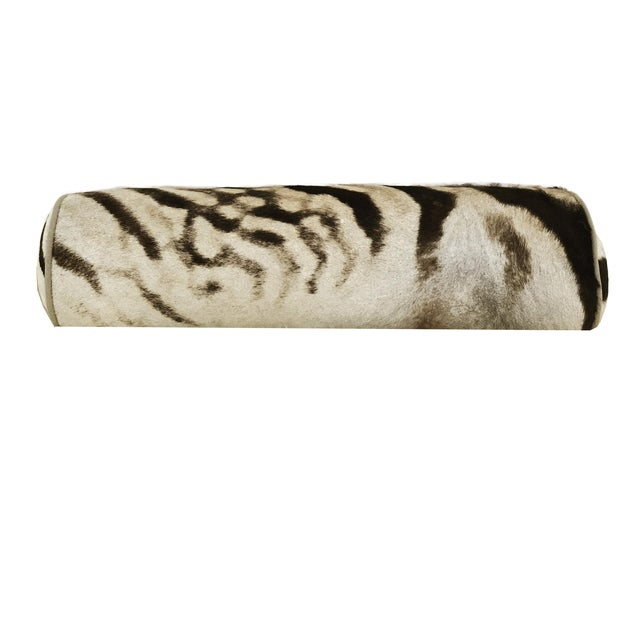Zebra Hide Bolster Pillow - Image 1 of 3
