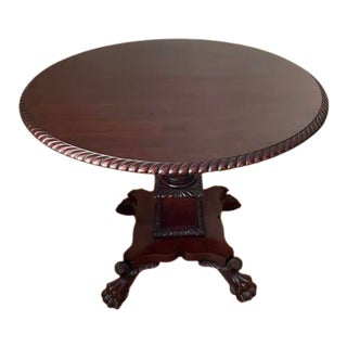 Antique Flip Top Table With Claw Foot Base For Sale
